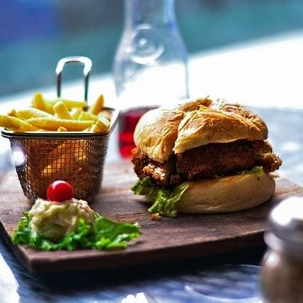 Image of Burger and Chips