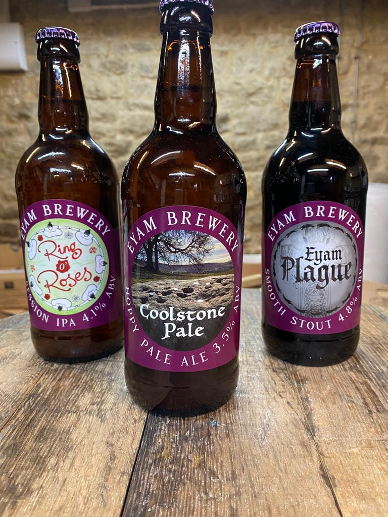 Image of Eyam Brewery Beer Selection